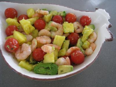 Salade à l'ananas exotique façon Pierrot - 7.2