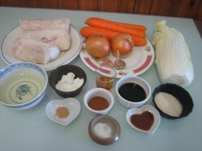 Ingrédients pour la recette : Lotte à l'aigre douce façon chinoise