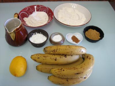Ingrédients pour la recette : Bananes en beignets façon chinoise