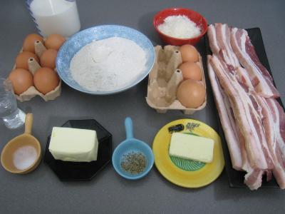 Ingrédients pour la recette : Crêpes de blé noir au lard