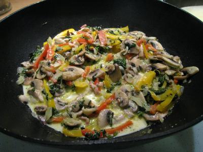 Crêpes aux épinards, aux champignons et son saumon fumé - 7.2