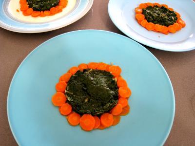 Ailes de raie aux carottes et aux bettes - 14.2