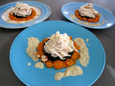 Ailes de raie aux carottes et aux bettes - 15.2