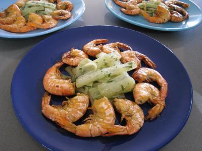 Crevettes à l'anis et sauce à l'orange - 10.2