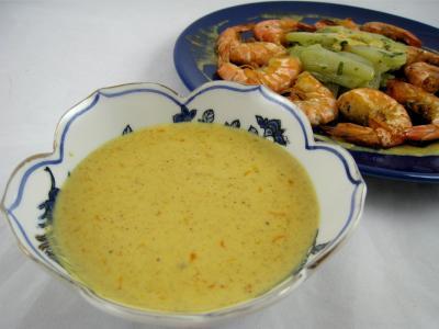 Recette Crevettes à l'anis et sauce à l'orange