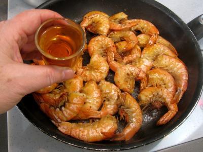 Crevettes à l'anis et sauce à l'orange - 8.1
