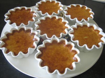 extrait de citron : Tartelettes de flan au citron minceur