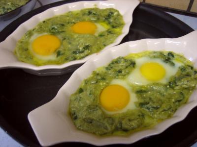 Cassolettes d'oeufs aux restes de purée de brocolis - 7.1