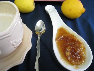 Recette Coupelle de marmelade de citron à la vanille