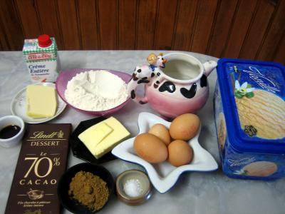 Ingrédients pour la recette : Profiteroles au chocolat au wok