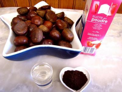 Ingrédients pour la recette : Confiture de marrons