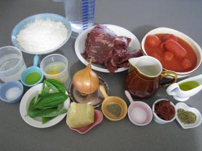 Ingrédients pour la recette : Pâtes spaghettis à la bolognaise
