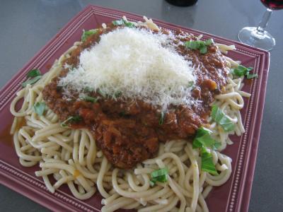 Pâtes spaghettis à la bolognaise - 16.4