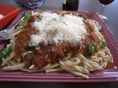 Pâtes spaghetti à la bolognaise