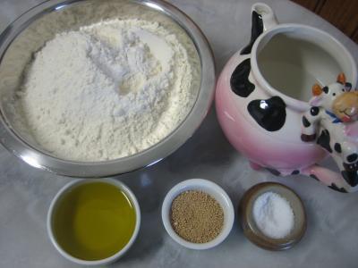 Ingrédients pour la recette : Pains cornettis italiens
