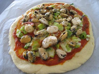 Pizza marinara aux moules à l'italienne - 17.3