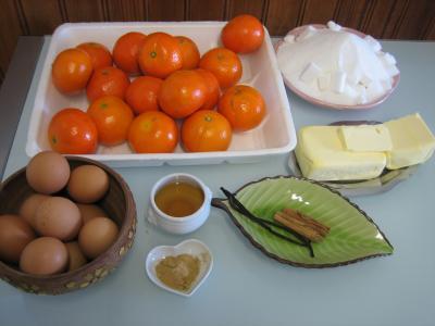 Ingrédients pour la recette : Curd aux clémentines