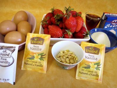 Ingrédients pour la recette : Fraises en sabayon