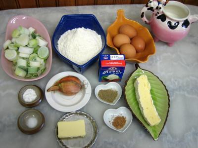 Ingrédients pour la recette : Galette aux poireaux