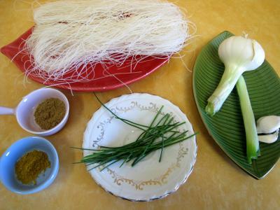Ingrédients pour la recette : Galettes de vermicelles de riz