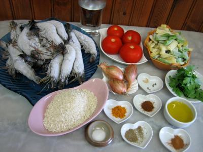 Ingrédients pour la recette : Gambas aux épices façon orientale