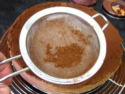 Gâteau au chocolat et son coulis de melon et pêches - 10.4