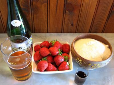 Ingrédients pour la recette : Gelée de fraises au cidre