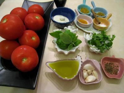 Ingrédients pour la recette : Ketchup aux épices
