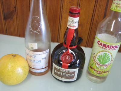 Ingrédients pour la recette : Kir au pomelo