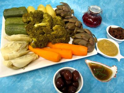 Image : recette Légumes vapeur (artichauts, brocolis, carottes, fenouil)
