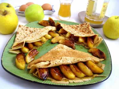 Image : recette Crêpes aux pommes à la bretonne