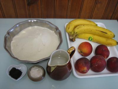 Ingrédients pour la recette : Marmelade de nectarines et bananes