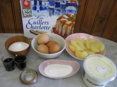Ingrédients pour la recette : Mascarpone ou tiramisu aux poires