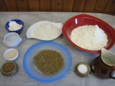 Ingrédients pour la recette : Pain au cumin