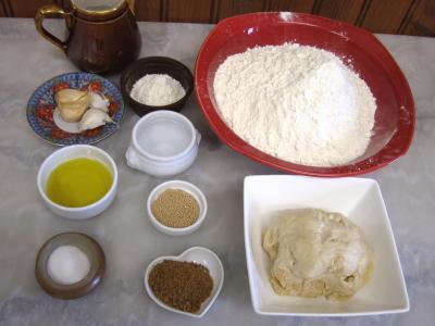 Ingrédients pour la recette : Pain escargot à l'ail