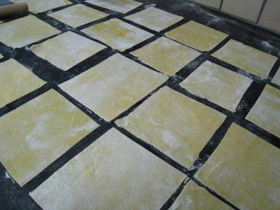 gluten : Pâte à wonton