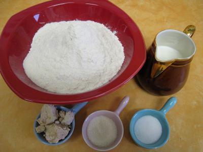 Ingrédients pour la recette : Petits pains anglais