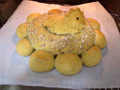 Poule de Pâques et ses oeufs - 9.1