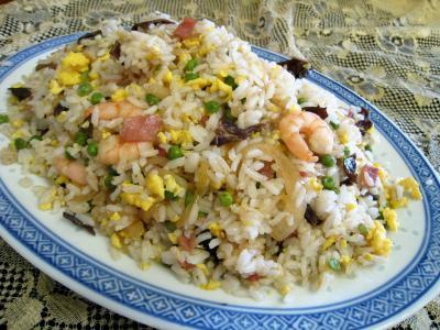 Image : Assiette de riz cantonais