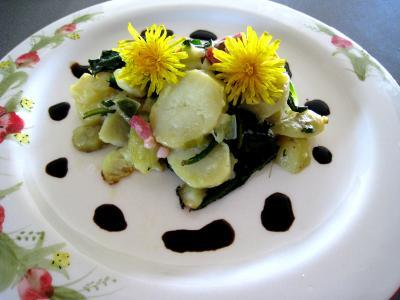 Cuisine de Champagne-Ardennes : Salade de pissenlits au lard à l'ardennaise