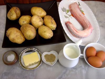 Ingrédients pour la recette : Roussette en purée