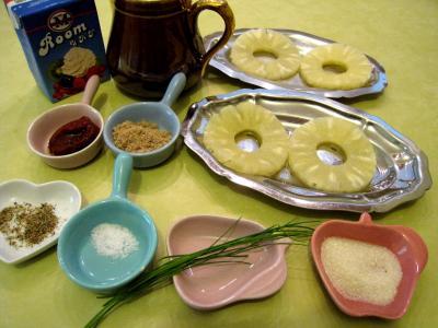 Ingrédients pour la recette : Sauce à l'ananas