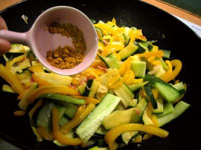 Sauté de légumes et ses oeufs au bain-marie - 7.3