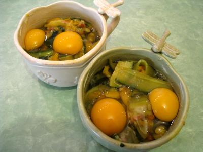 Sauté de légumes et ses oeufs au bain-marie - 9.4