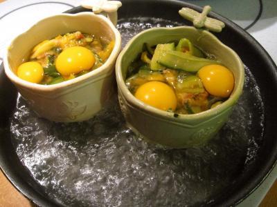 Sauté de légumes et ses oeufs au bain-marie - 10.2