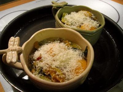 Sauté de légumes et ses oeufs au bain-marie - 11.1