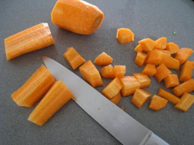 Pâtes complètes aux carottes et légumes pour diabétiques - 1.3