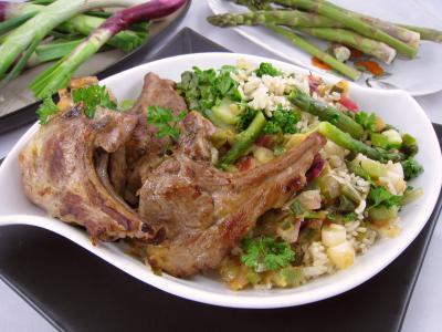Ognasses au riz, asperges et agneau pour diabétiques - 9.3