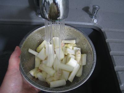 Polenta aux ognasses, aux épinards et aux asperges - 6.3