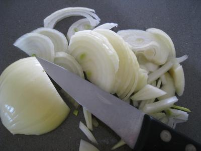 Sauté d'asperges aux oignons et poivron - 2.1